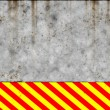 Metal wall with warning sign — Stock Photo