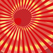Red grunge sunburst swirl. — Stock Photo