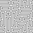 Black and white abstract background with complex maze — Stock Photo