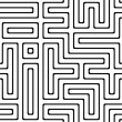 Black and white abstract background with complex maze — Stock Photo #2562596