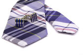 Tie and Cufflinks — Stock Photo