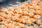 Shrimps on the Grill — Stock Photo