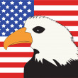 Stock Photo: AmericFlag with Bald Eagle