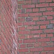 Stock Photo: Red Brick Wall Illusion Challenge
