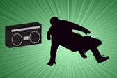 Breakdancer Dancing — Stock Photo