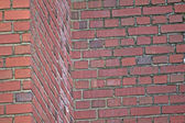 Red Brick Wall Illusion Challenge — Stock Photo