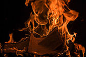 Book Burning Red Fire Flames of Hell — Stock Photo