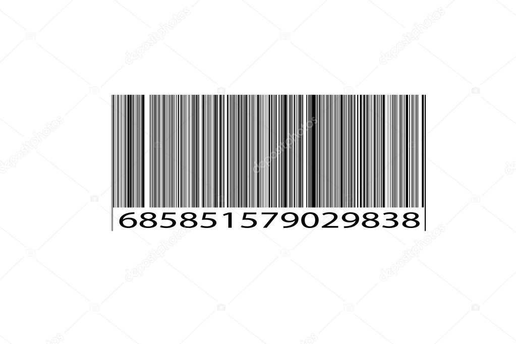 Original Retail Scan Bar Code Textured Black and White Background created from scratch. — Stock Photo #2272188