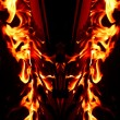 Red Fire Flames of Hell — Stock Photo #2294712