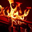 Stock Photo: Red Fire Flames of Hell