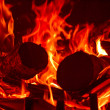 Red Fire Flames of Hell — Stock Photo