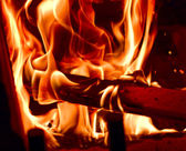 Smokey Flames of Fire — Stock Photo