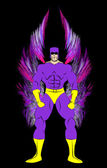 Generic Male Superhero with Wings — Stockfoto