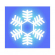 Glowing White Snowflake — Stock Photo