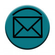 Blue Email Button Icon — Stock Photo