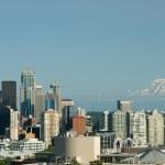 Seattle Space Needle Mt. Rainier — Stock Photo #2641710