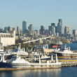 Stock Photo: Seattle Space Needle Skyline and Harbor