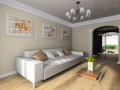 Room in classical style — Stockfoto