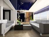 Treppe in einen salon — Stockfoto