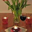 romantisches dinner — Stockfoto