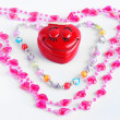 Teenager Valentine hearts — Stock Photo