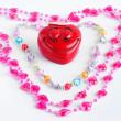 Teenager Valentine hearts — Stock Photo