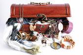 Women's treasure box — Stock Photo
