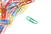 Color paperclips — Stock Photo