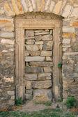 Stone closed door — Stock Photo