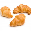 Three croissants — Stock Photo