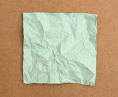 Crumpled note paper — Stock Photo
