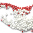 Royalty-Free Stock Photo: Red and white beads