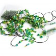 Green beads — Stock fotografie