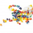 Colored glass beads — Stock Photo