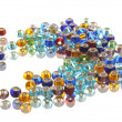 Colored transparent beads - Stockfoto