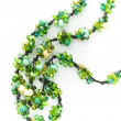 Green and yellow glass beads — Stock Photo