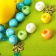 Stock Photo: Large yellow bead