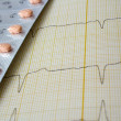 ECG with drugs — Stock Photo