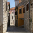 Bystreet in Jelsa, Croatia - Stock Photo