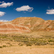 Desert and mountains under the blue sky - Stock Photo