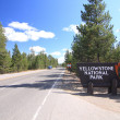 Stock Photo: Yellowstone National Park entrance sign