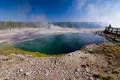 Yellowstone hot pool — Stock Photo