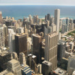 aerial view of chicago — Stock Photo