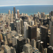 Aerial view of Chicago, Illinois - Stock Photo