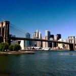 Brooklyn Bridge and Manhattan, New York — Stock Photo