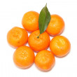 Fresh mandarin fruits with green leaves — Stock Photo #2383857