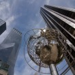 Globe at Columbus Circle - Stock Photo