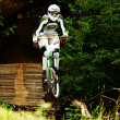 Mountain biker in flight — Stock Photo #2392206