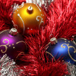 Royalty-Free Stock Photo: Christmas balls and tinsel