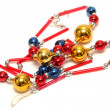 Bead decoration for christmas tree — Stock Photo